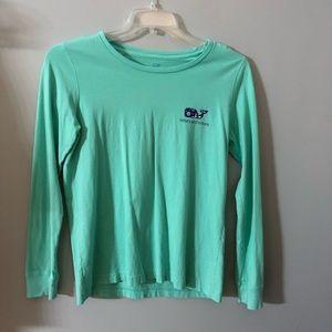 Vineyard vines Mint whale shirt S